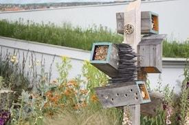 Bijen in de tuin - insectenhotel - Chelsea Flower Show